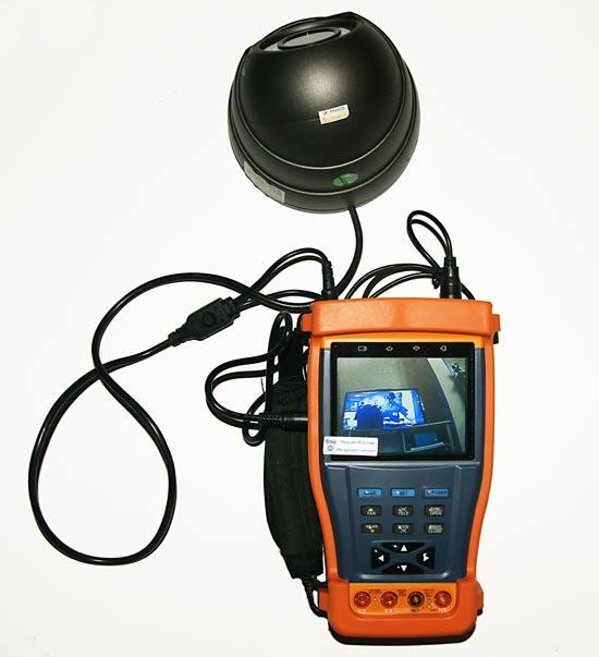 CCTV Tester powers camera